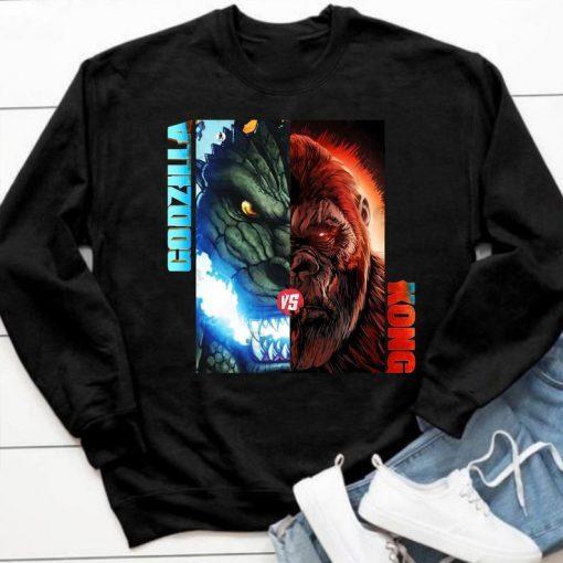 Godzilla vs Kong Tshirt - team Godzilla shirt, team Kong shirt, Kong vs Godzilla poster tee, birthday gifts, mother's day gift