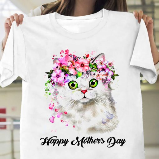 Happy Mother's Day Shirt, Cat Mom TShirt, Mother's Day Gift, Mother's Day Tee, Mother Shirt, Mother T-Shirt