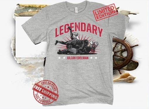 Legendary Julian Edelman Shirt Football NFLPA