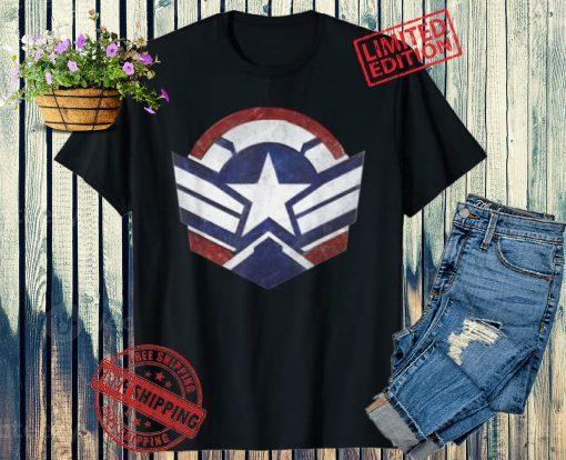 Marvel Falcon Winter Soldier Wings Shield Logo Flim Shirt