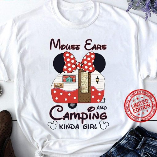 Mickey Mouse Ears And Camping Kinda Girl Unisex Shirt