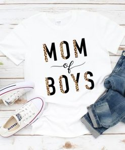 Mom of Boys TShirt, Leopard Boy Mama TShirt, Gift For Mom, Mother of Boys, 2021 Mother's Day Gifts