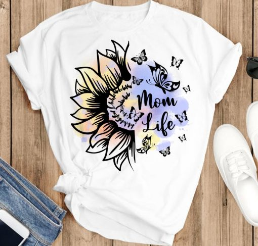 Momlife Floral shirt, Mommy t shirt, momlife shirt, Mother's Day shirt, Gift for Mum, Cute Mom shirts, Mothers day 2021 Gift