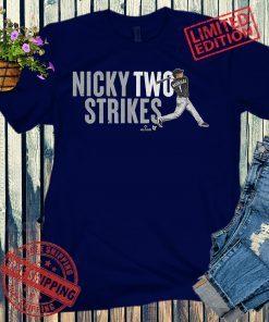 Nick Madrigal, Nicky Two Strikes Baseball T-Shirt
