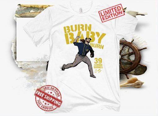 Official Corbin Burnes MLBPA Shirt Gem Mint