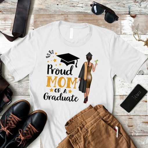 Personalized Proud Mom Of A Graduate Shirt, Custom Graduation Gift Shirt, Graduate Gift Ideas, Birthday Gift Ideas From Mom, Gifts For Her