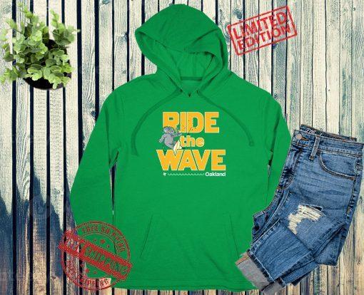 RIDE THE WARE SURF OAKLAND BASEBALL T-SHIRT