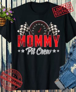 Race Car Birthday Party Racing 2021 Family Mommy Pit Crew T-Shirt