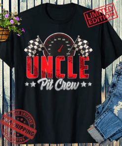 Race Car Birthday Party Racing 2021 Family Uncle Pit Crew Shirt