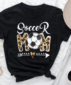 Soccer Mom Leopard Shirt, Funny Soccer Mom Shirt, Mother's Day 2021 Shirt, Soccer Mom Shirt, Football Shirt, Mom Leopard Headband Shirt