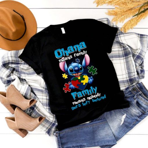 Stitch Autism Ohana Means Family Autism Awareness shirt, Stitch Autism shirt, Autism Puzzle shirt, Gift For Autism, Movie Lover Shirt