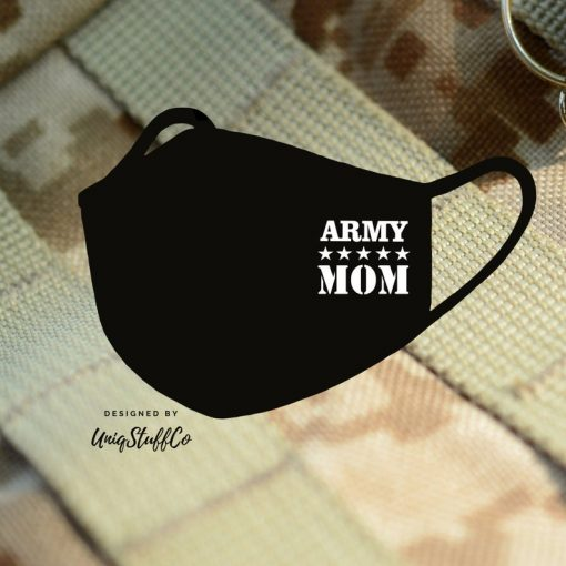 US Army Mom Face Mask Reusable Washable Cover Mask Cotton - ARMY Face Mask - Army Mom Face Mask