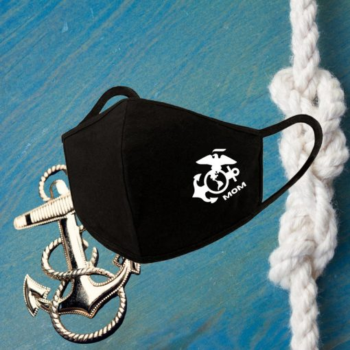 USMC Marine Cops Face Mask Reusable Washable Cover Mask Cotton - USMC Face Mask - Mask for USMC mom