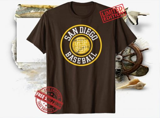 Vintage San Diego SD Badge Game Day Padre Gift T-Shirt Shirts
