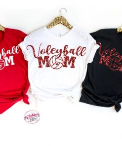 Volleyball Mom T Shirt ,Game day funny T Shirt ,Volleyball Game Season T Shirt ,Teen T Shirt ,Mother Day T Shirt