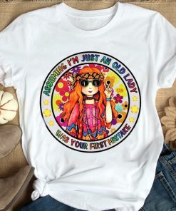 2021 Gift shirt, Assuming I'm Just An OId Lady Was Your First Mistake Hippie Girl Shirt, Lgbt Pride Shirt