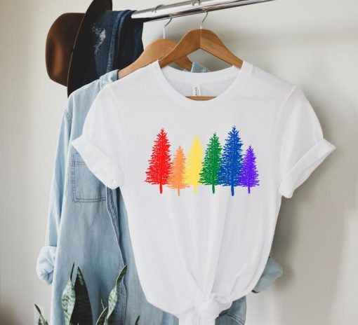 2021 LGBTQ Trees TShirt, LGBT forest, Gay Couple Matching, Queer gifts, LGBT T-Shirt, Be Kind T-Shirt, Equality T-Shirt, Kindness, Lesbian, Pride T-Shirt
