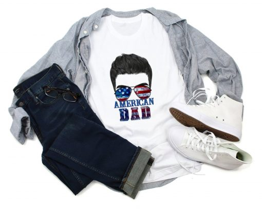 American Dad Shirt, Patriotic Dad Shirt, Dad Shirt, Father's Day Shirt, 4th Of July Shirt