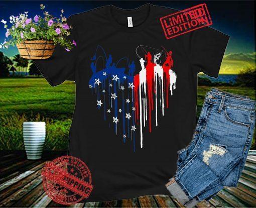 American Flag Heart Shirt, 4th Of July Shirt, Fishing Dad Shirt, Independence Day Shirt, Memorial Day USA Flag Shirt