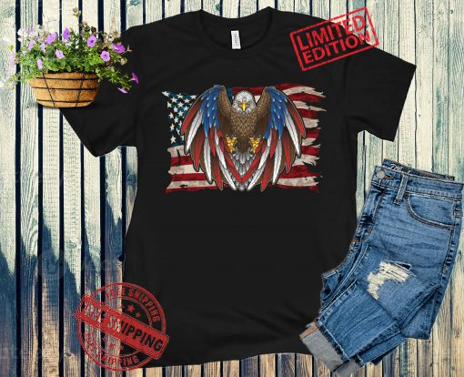 American Flag Patriotic Eagle Vintage Shirt , USA Pride Gifts, Independence Day, Veterans Day, Memorial Day Shirt