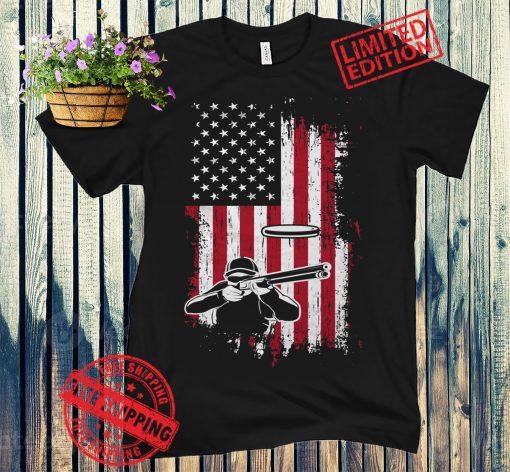 American Skeet Shooting Shirt, Skeet Shooting Gift, Skeet Shooter Shirt, Skeet Shooter Gift, Skeet Shirt, Skeet Shooting USA Flag Tee