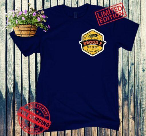 Brood X The Great Eastern Brood Cicadas Logo T-Shirt