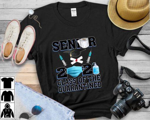 Class Of 2021 Mask Seniors Quarantine Decorations Graduation Tee Shirt