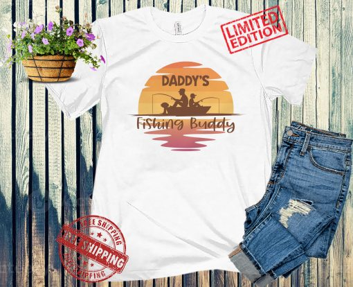 Daddy's Little Fishing Buddy and Daddy Fishing Shirts or Onesies, Great Father's Day Gift from Son, Fishing Vacation Outfit