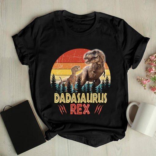 Dinosaur Rex Vintage Dadasaurus Tee, Dad Father Gifts Shirt, Daddy Shirt, Dinosaur Party Shirt, Dino Dad, Dadasaurus Shirt