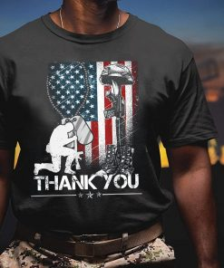 Distressed Memorial Day T-Shirt, Flag Military Boots Dog Tags, Thank You Veterans T-Shirt