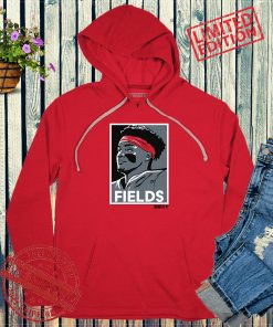 FIELDS Red & Gray Apparel Shirt Justin Fields Football