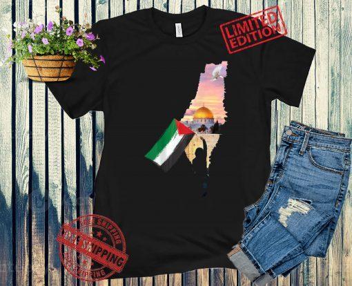 Free Palestine Map Flag Jerusalem's City Support Gaza Shirts