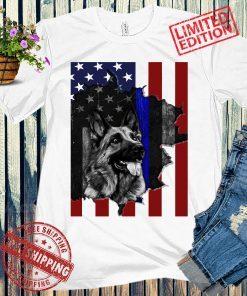 German Shepherd American Flag 2021, Garden Flag USA Tshirt