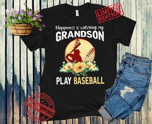 Happiness Is Watching My Grandson Play Baseball 2021 Tee Shirt
