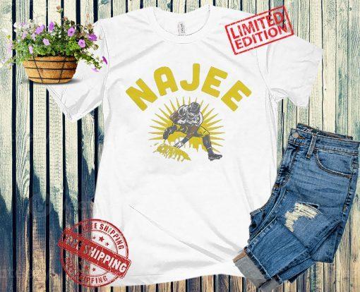 Here We Go Najee Harris Shirt + Unisex, NFLPA Licensed