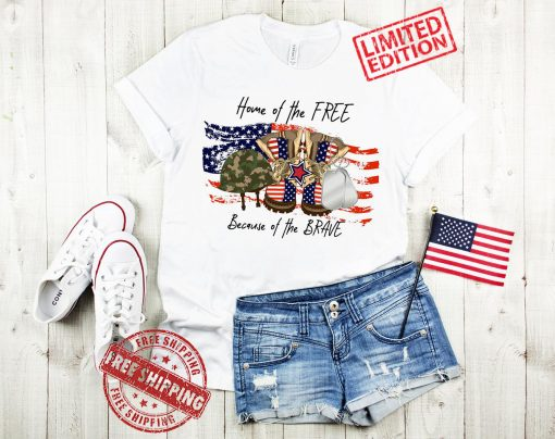 Home Of The Free Shirt, Because Of The Brave Shirt, 4th Of July Shirt, Memorial Day Shirt