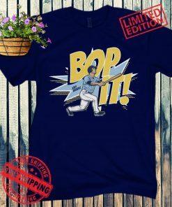 Joey Wendle Bop It T-Shirt Baseball Tampa Bay