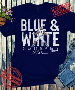 Micah Parsons Blue And White Forever Signature T-Shirts