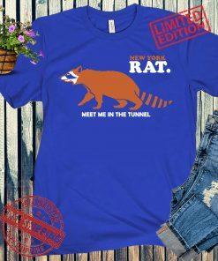 NEW YORK RACCOON RAT SHIRT MET ME IN THE TUNNEL