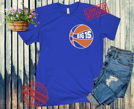 Official Big 15 New York Basketball T-shirt