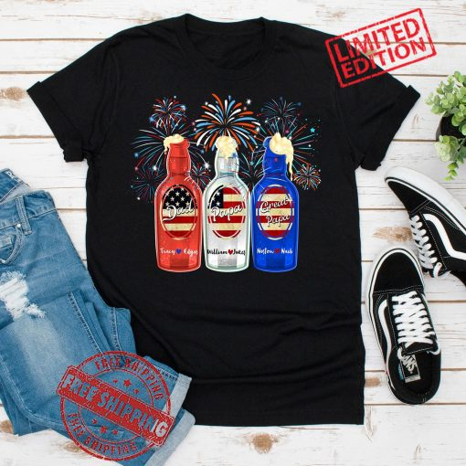 Personalized American Flag Beer Dad Papa Great Papa 2021 Tee Shirt, Fathers Day Gift Shirt, 4th of July Love Gift