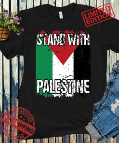 STAND WITH PALESTINE, Vintage Distressed PALESTINIAN FLAG T-Shirts