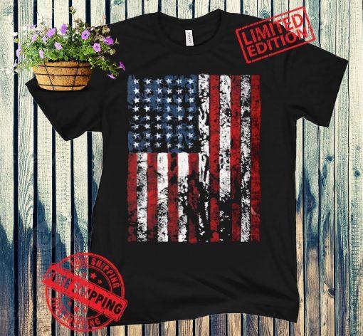 USA Distressed American Flag Unisex Tee Shirts Tops USA Women's Shirts USA Flag T-shirt 4th of July Shirts