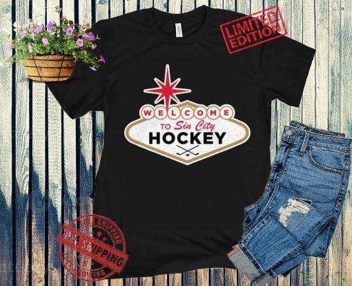 Welcome To Sin City Hockey Tee Shirt