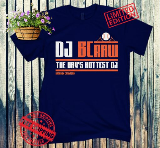 Brandon Crawford DJ BCraw Official Tee Shirt