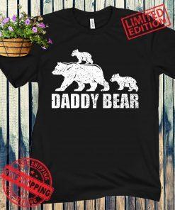 Daddy Bear 2 Cubs Shirt Daddy Bear Twin Dad 2 Kids Tee Shirt