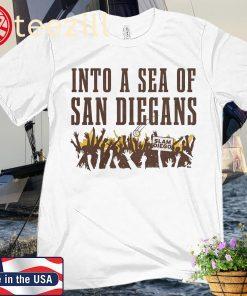 Into a Sea of San Diegans, Diego Baseball Premium Shirt