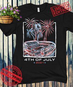 TEXAS STADIUM FIREWORKS 4TH OF JULY 2021 SHIRT